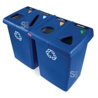 Recyclingstation -Glutton- Rubbermaid 348 Liter aus PE, inkl. Deckel