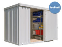 Materialcontainer -STIC 1300- mit Isolierung, ca. 6 m², wahlweise Holzfuß- oder isolierter Boden