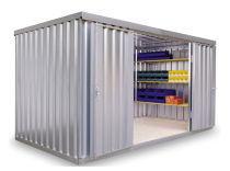 Materialcontainer -STMC 1400-, ca. 8 m², wahlweise mit Holzfußboden