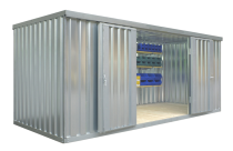 Materialcontainer -STMC 1500-, ca. 10 m², wahlweise mit Holzfußboden
