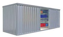 Materialcontainer -STMC 1600-, ca. 12 m², wahlweise mit Holzfußboden
