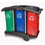 Reinigungswagen - Triple Capacity-  Rubbermaid