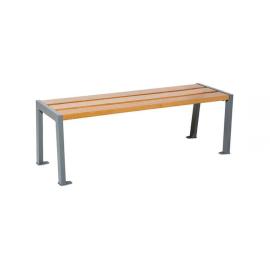 Sitzbank Nature Ohne Rückenlehne Stahl Sitzfläche