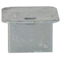 Abdeckkappe für Bodenhülse 70 x 70 mm, ohne Verschluss, Vierkant