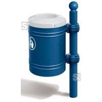 Abfallbehälter -Bowl- 40 Liter aus Stahl, selbstlöschend