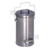 Abfallbehälter -Cubo Alano- 25 Liter aus Edelstahl, mit Gleitdeckel und Tragegriff