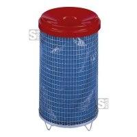 Abfallbehälter -Cubo Arlene- 70 Liter aus Drahtgitter, mit Trichteraufsatz
