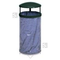 Abfallbehälter -Cubo Arlo- 80 Liter aus Drahtgitter, mit Dach