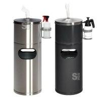 Abfallbehälter -Cubo Desiderio- 32 Liter, mit Tuchspender und Flaschenhalter