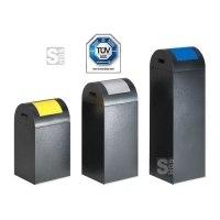 Abfallbehälter -Cubo German- 43-89 Liter aus Stahl, selbstlöschend, verschiedene Farben