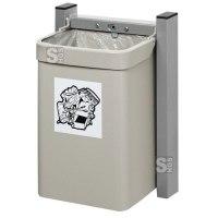 Abfallbehälter -Cubo Loretta- 15 Liter aus Stahl, zur Wandbefestigung