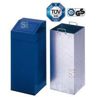 Abfallbehälter -Cubo Miguel- 45 oder 76 Liter aus Stahl, inkl. Innenbehälter und Aufkleber