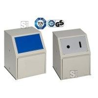 Abfallbehälter -Cubo Roberto- 23 Liter aus Stahl, wahlweise als Behälter für Altbatterien