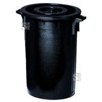 Abfallbehälter -Cubo Roman- 30 bis 150 Liter aus Polyethylen, mit Deckel
