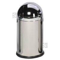 Abfallbehälter -Cubo Tadeo- 22 bis 55 Liter aus Edelstahl, wahlweise mit Fußpedal