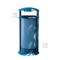 Abfallbehälter -Delion- 50 Liter aus Stahl, zum Aufdübeln
