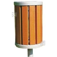 Abfallbehälter -Lumbers- 35 Liter aus Stahl und Holz