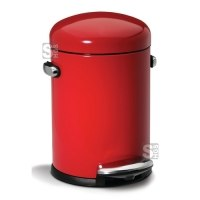 Abfallbehälter -Mini Round Retro Step Can- Simplehuman, 4,5 Liter aus Stahl