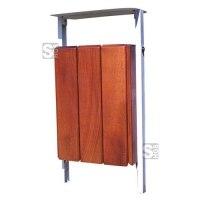 Abfallbehälter -Nature- 30 Liter aus Stahl und Eichenholz, wahlweise mit Deckel und Kippsystem, Lasur Eiche hell oder Mahagoni