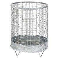 Abfallbehälter -Nr. 5- 63 Liter aus Drahtgitter mit Stahlblechboden
