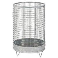 Abfallbehälter -Nr. 6- 75 Liter aus Drahtgitter mit Stahlblechboden
