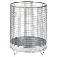 Abfallbehälter -Nr. 7- 118 Liter aus Drahtgitter mit Stahlblechboden
