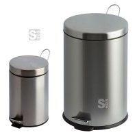 Abfallbehälter -P-Bins 26- 3, 5, 12, 20 oder 30 Liter aus Edelstahl, mit Pedal