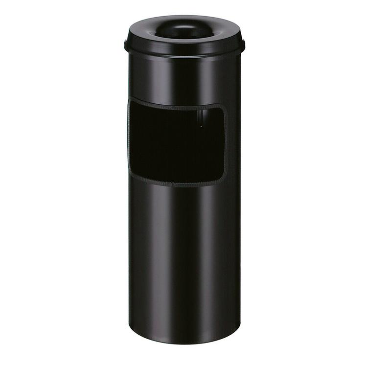 Abfallbehälter -P-Bins 40- 30 Liter aus Stahl, mit Ascher, feuerfest