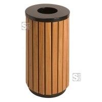 Abfallbehälter -P-Bins 69- 40 Liter aus Stahl mit Kunststoffverkleidung (Holzoptik)