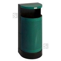 Abfallbehälter -P-Bins 86- 35 Liter aus Stahl, feuerfest