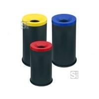 Abfallbehälter -Pro 16- 50 oder 90 Liter, aus Stahl, selbstlöschend
