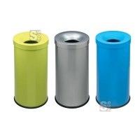 Abfallbehälter -Pro 17- 50 Liter, aus Stahl, selbstlöschend