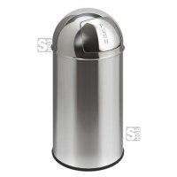 Abfallbehälter -Push Bin- 40 Liter aus Edelstahl, feuerfest