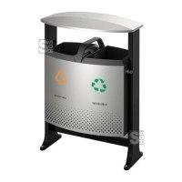 Abfallbehälter -Recycling- EKO, 78 Liter aus Stahl, feuerfest, wahlweise mit Batteriefach