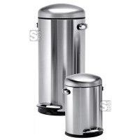 Abfallbehälter -Retro Bin-, 4,5 oder 30 Liter aus Edelstahl, mit Pedal