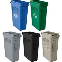 Abfallbehälter -Slim Jim- Rubbermaid 60 und 87 Liter aus PE, mit Lüftungskanälen