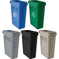 Abfallbehälter -Slim Jim- Rubbermaid 87 Liter aus PE, mit Lüftungskanälen