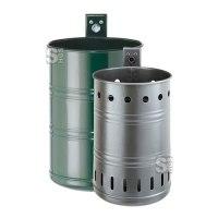 Abfallbehälter -State Arizona- 20 oder 35 Liter aus Stahlblech, mit Zierringen, vollwandig oder gelocht