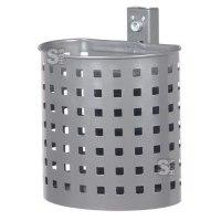 Abfallbehälter -State Florida- halbrund, 20 Liter - gelocht