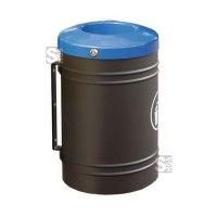 Abfallbehälter -Throw- 40 Liter aus Stahlblech, zur Wand- oder Pfostenmontage, selbstlöschend