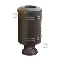 Abfallbehälter -Throw- 60 Liter aus Stahl, auf Alu-Sockel oder Stahlfuß, selbstlöschend