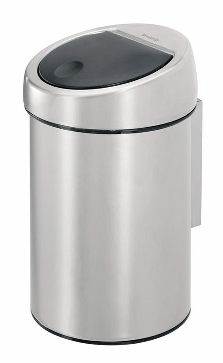Abfallbehälter -Touch Bin- Brabantia, 3 Liter aus Edelstahl, mit Touchdeckel, zur Wandmontage