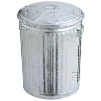 Abfallbehälter -Trash Can- 54 Liter aus Stahl, feuerfest