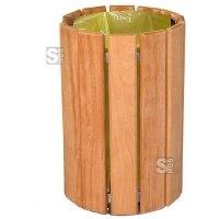 Abfallbehälter -Wooden- 60 Liter aus Holz