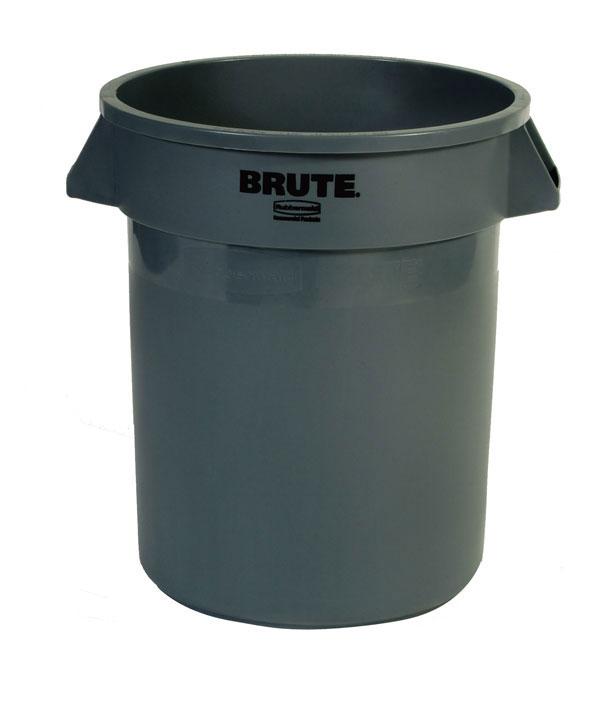 Abfallcontainer -BRUTE- Rubbermaid 75,7 Liter aus PE, wahlweise mit Deckel