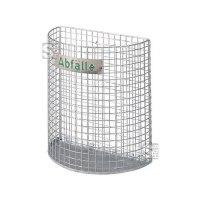 Abfallkorb -M2- 27 Liter aus Drahtgitter, halbrund
