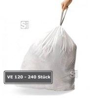 Abfallsäcke -Perfect Fit- Brabantia, 3 bis 60 Liter, Kunststoff (HDPE), weiß, für leichte Abfälle