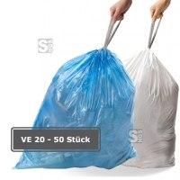 Abfallsäcke -Perfect Fit- Simplehuman, 3 bis 65 Liter aus Kunststoff (HDPE), mit Kordelzug, für leichte Abfallprodukte