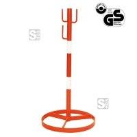 Absperrbock -A1807-, Höhe 1000 mm, rot oder rot / weiß, 2-4 Haken, mobil oder Einbetonieren