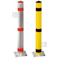 Absperrpfosten -Acero- Ø 102 mm aus Stahl, zum Einbetonieren oder Aufdübeln, herausnehmbar oder feststehend